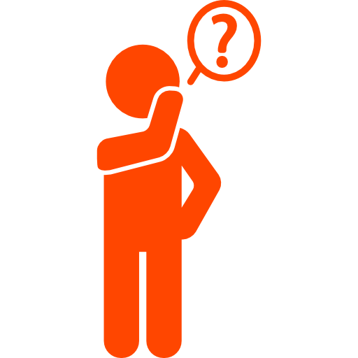 questioning man pictogram