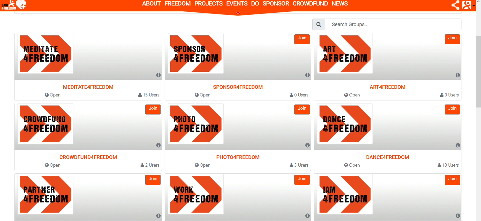 Screenshot 4freedom groups