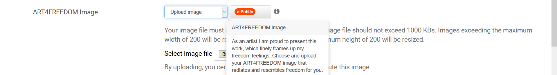 Screenshot upload art4freedom image b