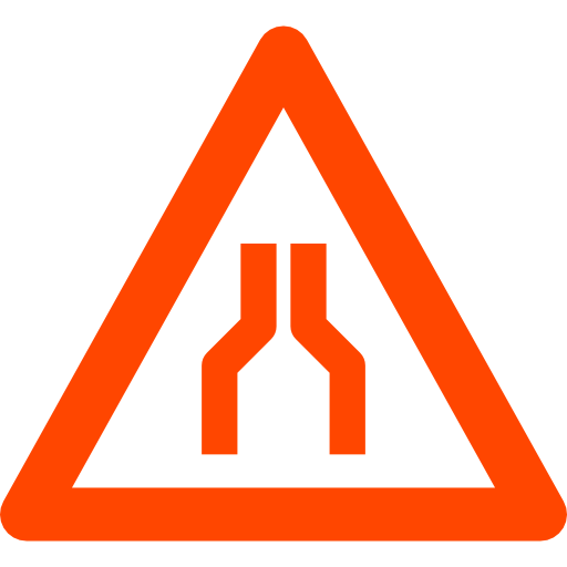 narrow road lean management sign