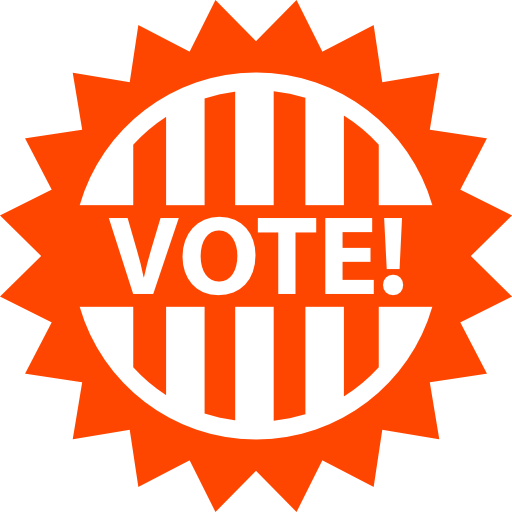political neutral vote badge for political elections