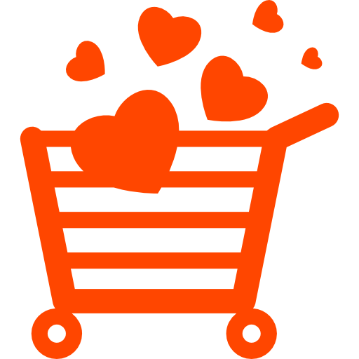 loyalty shopaholic shopping cart with hearts
